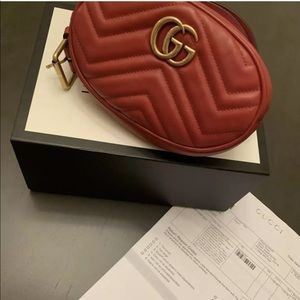 Gucci Marmont belt bag red size 95